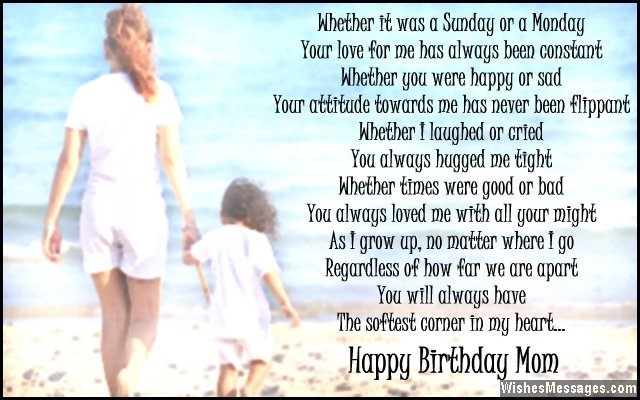 Beautiful birthday card poem for mom