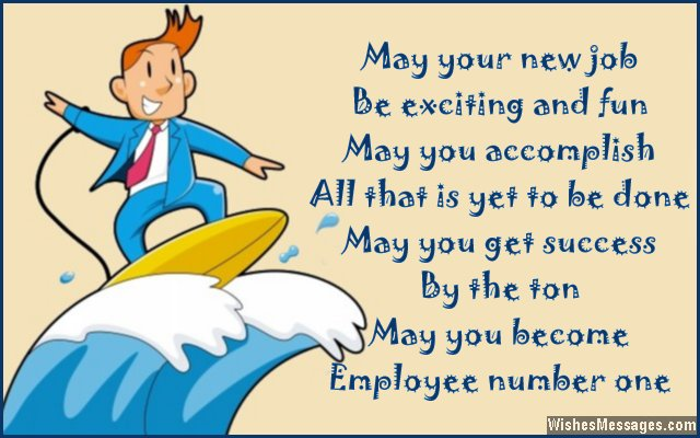 Best wishes for new job