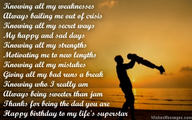Birthday Poems for Dad WishesMessages – Happy Birthday Dad Card