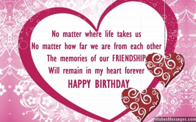 Birthday Wishes for Best Friend Quotes and Messages – Birthday Card for a Friend