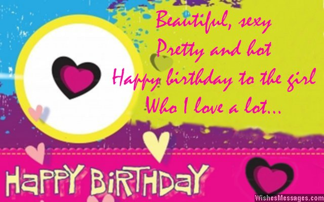 Birthday wishes for girlfriend quotes and messages wishesmessages birthday greeting card for girlfriend m4hsunfo Image collections