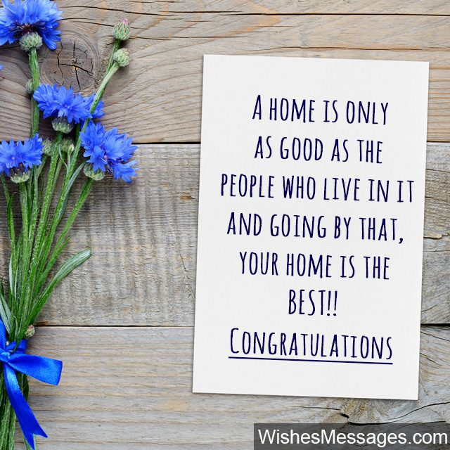 Congratulations greeting card wishes for buying a new home