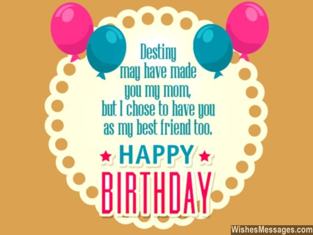 Birthday Wishes for Mom Quotes and Messages WishesMessages – Friend Birthday Card Messages