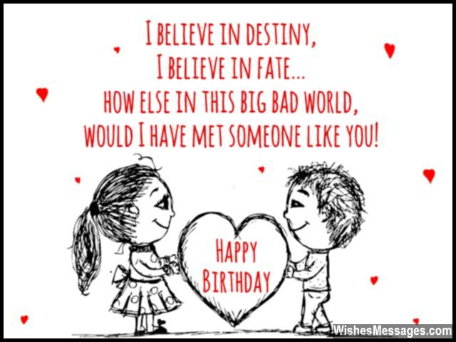birthday wishes for girlfriend quotes and messages, Birthday card