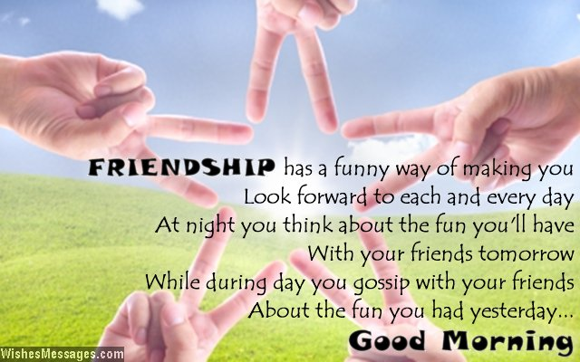Cute good morning message for friends