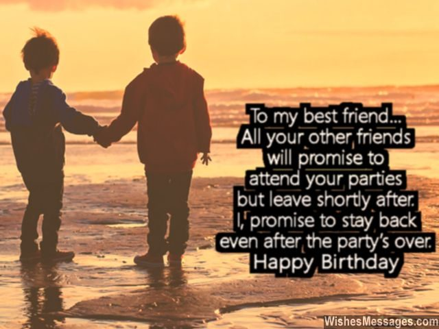 Happy birthday greeting card message for best friend