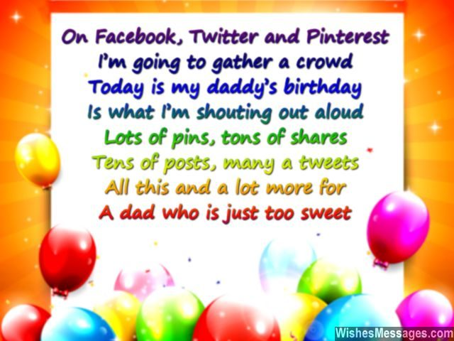 Happy birthday poem for dad pinterest facebook and twitter