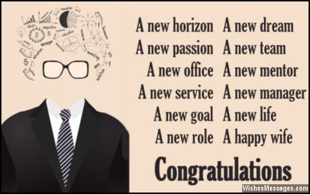 Inspirational congratulations poem for a new job