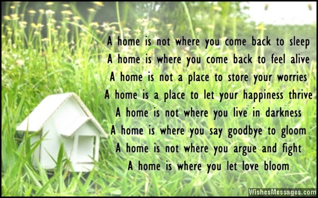 New home card poem