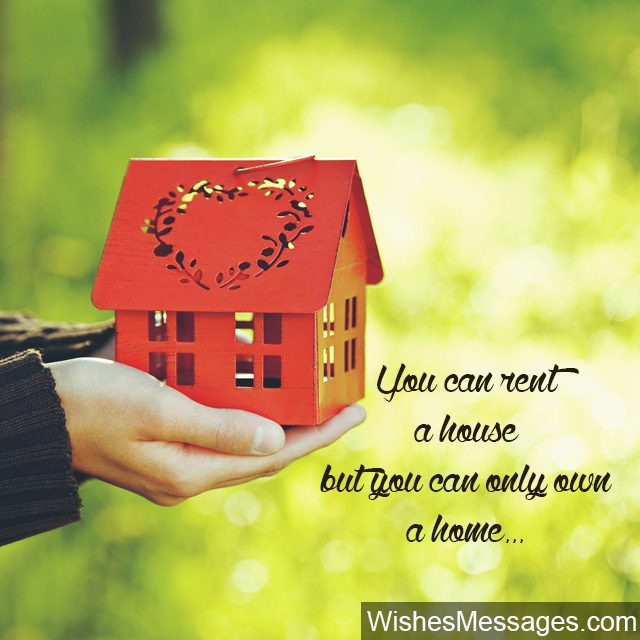 New home wishes and messages congratulations for buying a new house renting vs buying a home and house quote m4hsunfo