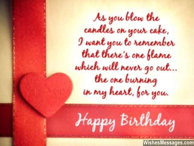 Romantic birthday greeting card message for girlfriend boyfriend