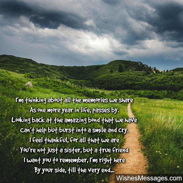 Birthday Poems for Sisters – WishesMessages com
