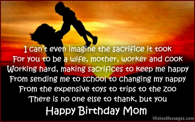 Sweet birthday card poem for mom