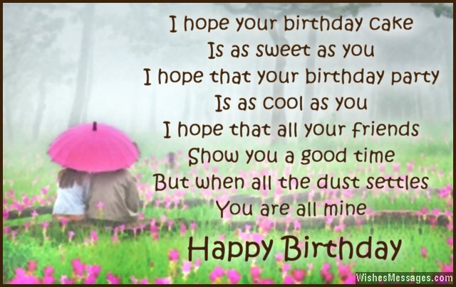 Birthday Poems for Boyfriend – WishesMessages com