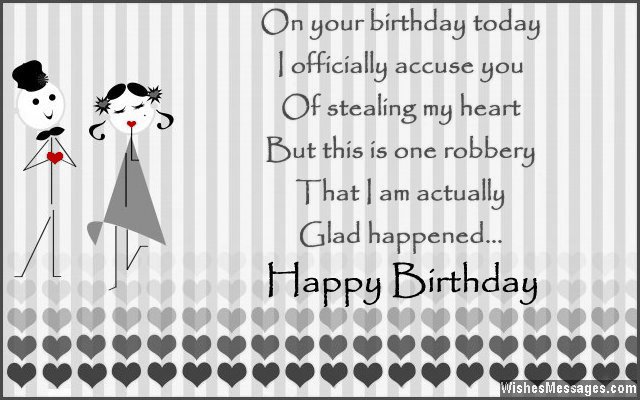 birthday wishes for boyfriend quotes and messages, Birthday card