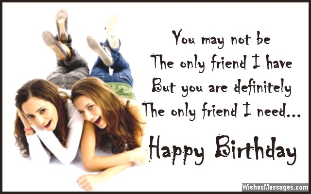Sweet Birthday Message For Best Friend