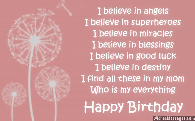 Birthday Wishes for Mom Quotes and Messages WishesMessages – Birthday Greetings for Mother