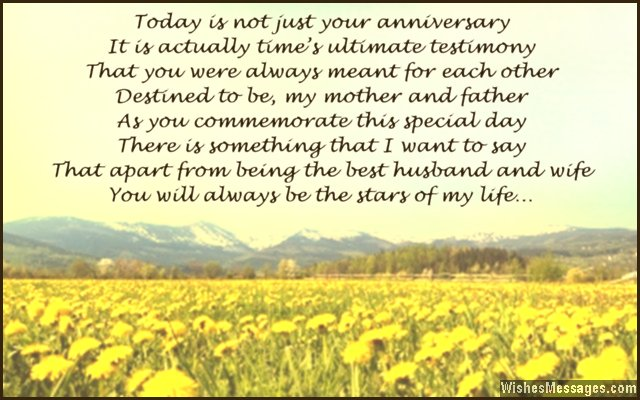 Anniversary Poems for Parents: Happy Anniversary Mom and ...