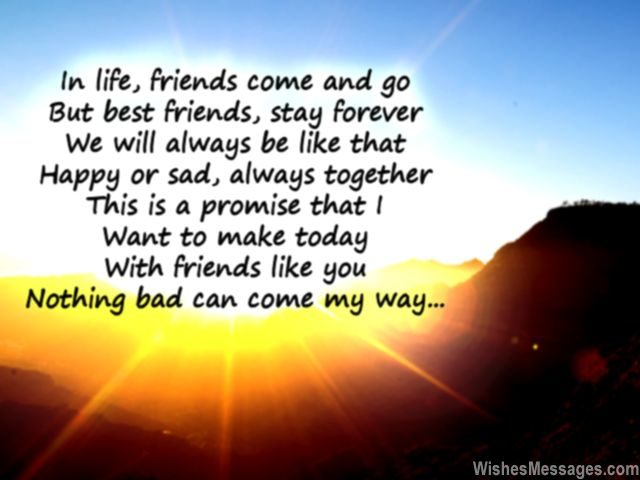 Best friends poem friendship forever