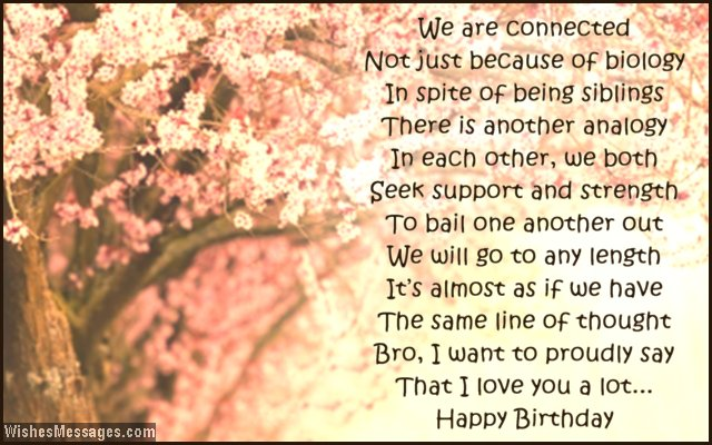 Birthday Poems For Brother Wishesmessagescom