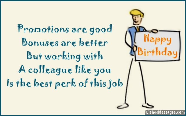 Birthday Card Wish For Colleagues And Co Workers