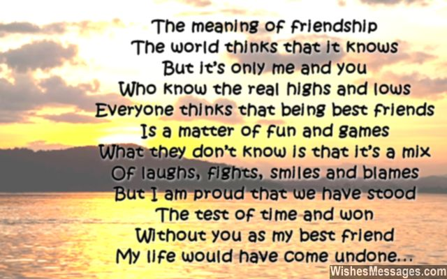 Birthday Poem For Best Friends