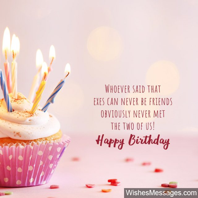 Surprising Birthday Wishes For Ex Girlfriend Quotes And Messages Funny Birthday Cards Online Alyptdamsfinfo