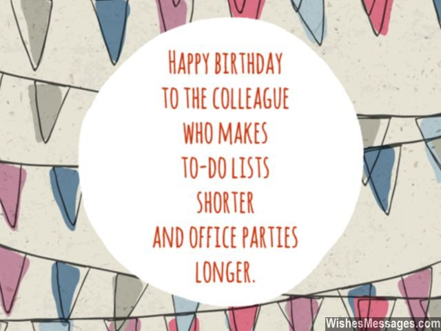 Birthday wishes for colleagues office parties longer greeting card