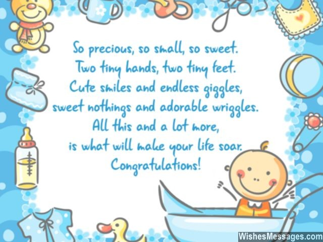 congratulations for baby boy newborn wishes and quotes, Greeting card