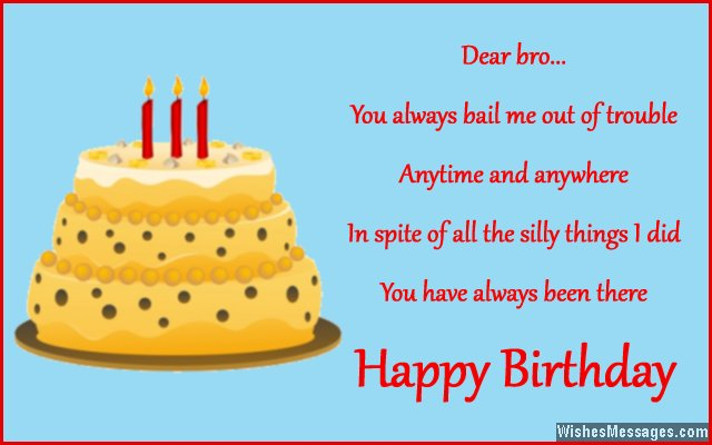 Birthday wishes for brother quotes and messages wishesmessages cute birthday greeting card for brother m4hsunfo Images