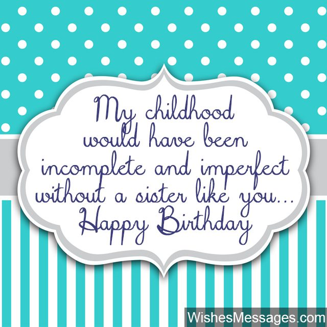 Birthday Wishes for Sister Quotes and Messages WishesMessages – Cute Birthday Card for Sister