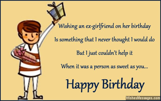 Cute birthday greeting card message for ex-girlfriend