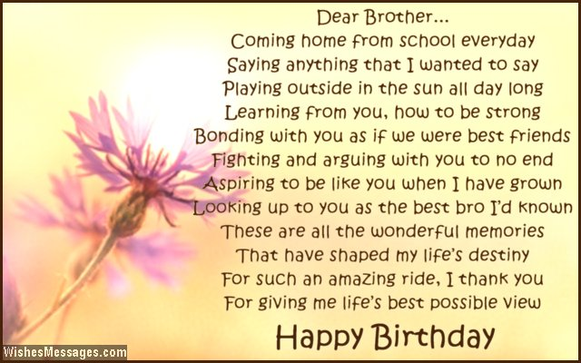 Birthday poems for brother page 2 wishesmessages cute birthday greeting poem for brother m4hsunfo