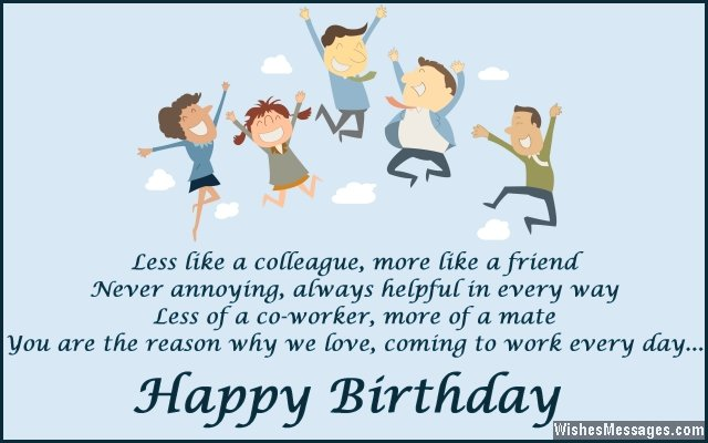 Birthday wishes for colleagues quotes and messages wishesmessages cute birthday message for colleagues bookmarktalkfo Image collections