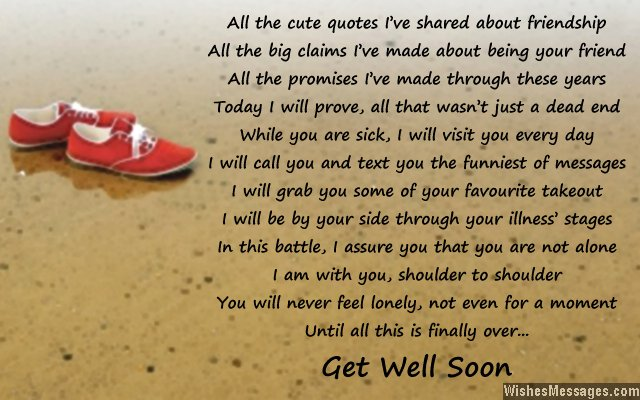Quotes About Death Of A Friend Get well soon poems fo...
