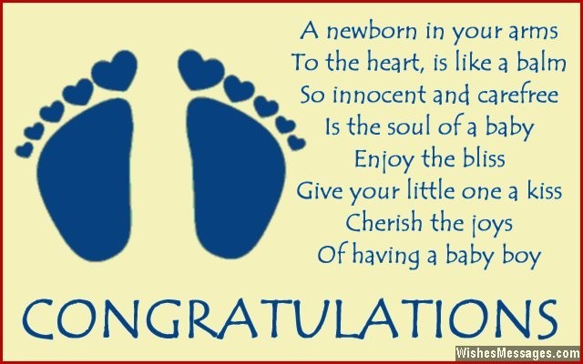 Cute quote for new baby greeting
