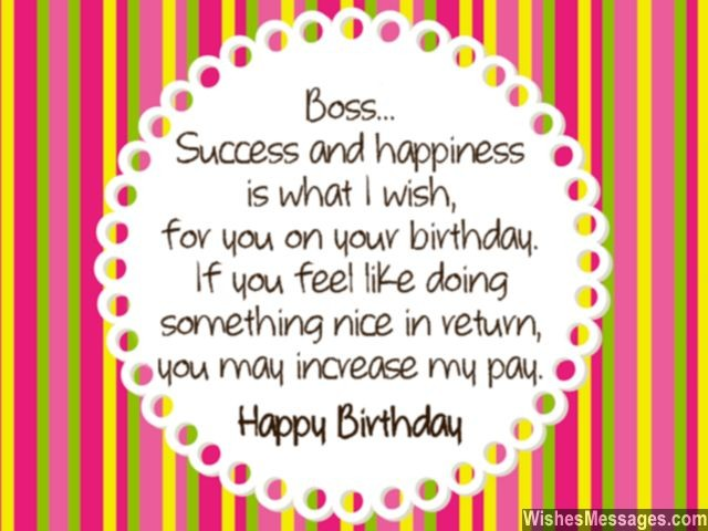 Birthday Wishes for Boss Quotes and Messages WishesMessages – What to Write on a Birthday Card for Your Boss