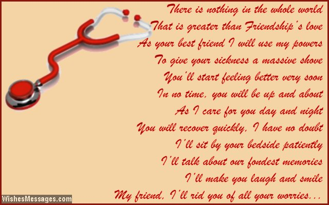 get well soon poems for friends page 2 wishesmessages com