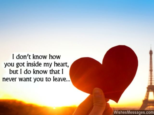 Heart i love you never leave me message