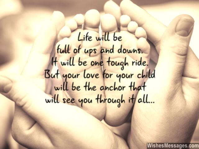 parent child quote for new mom and dad cute baby feet