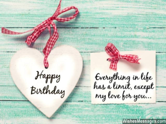 Romantic birthday wishes for him husband heart greeting card
