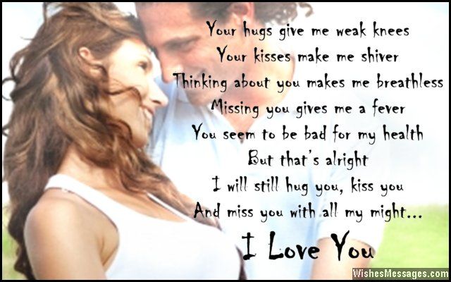 Sweet I Love You message for boyfriend
