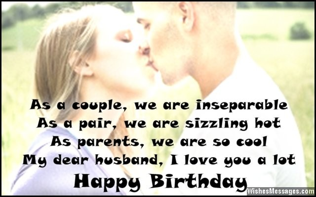 Sweet birthday card message to husband from wife