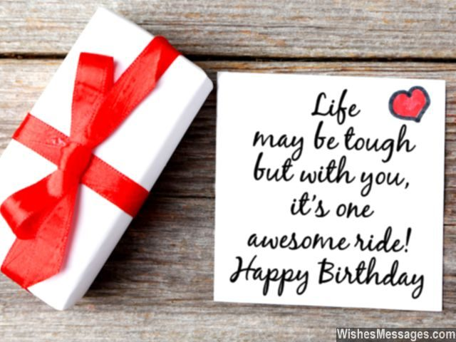 Birthday wishes for husband quotes and messages wishesmessages sweet birthday card quote for him life awesome with you m4hsunfo