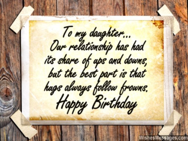 Sweet birthday greeting card message for daughter