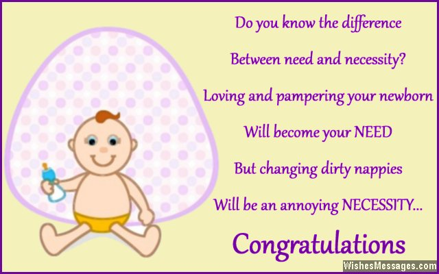 sweet congratulations message for new baby