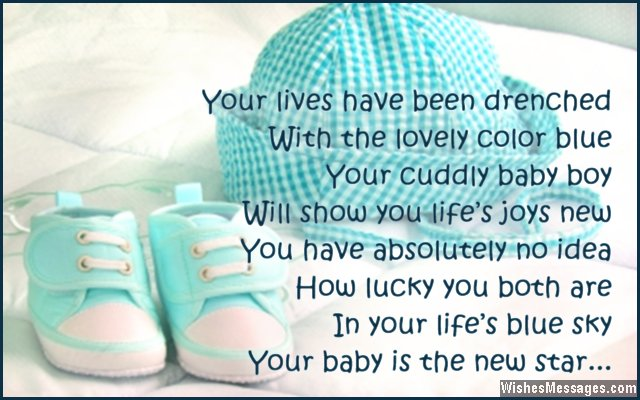 Sweet poem for new baby boy card