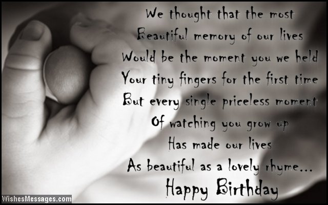Touching birthday quote for a daughter from her parents