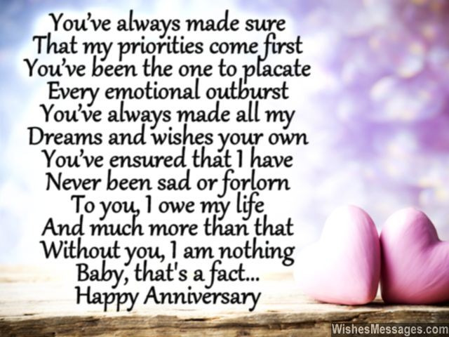 Anniversary poem for husband thanks for everything love you