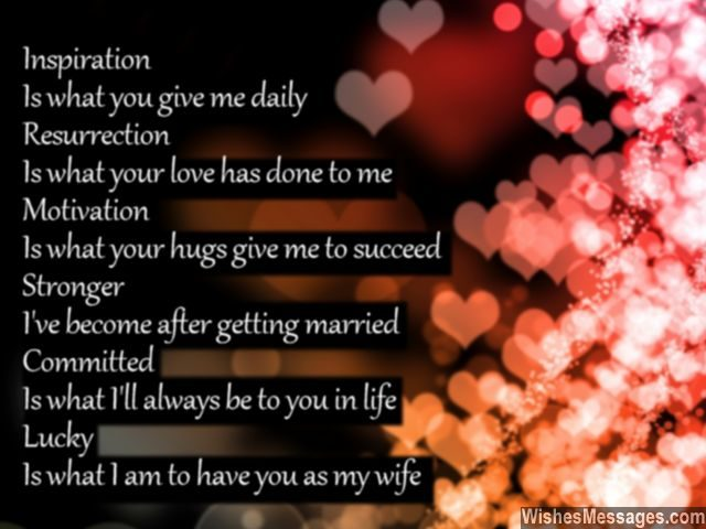 Beautiful poem from husband to say i love you to wife